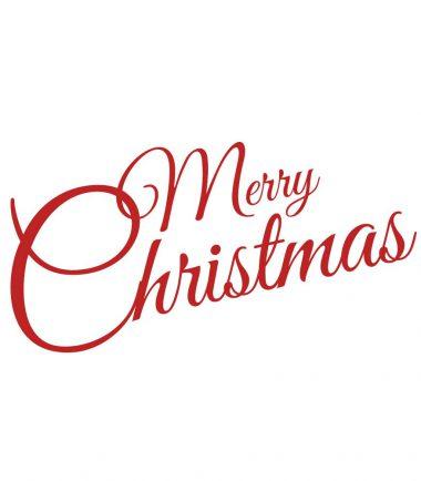 Kerststicker Merry Christmas