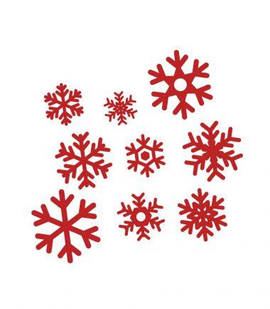 kerststicker sneeuwvlokken