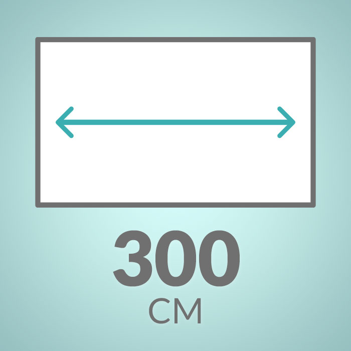 300 cm